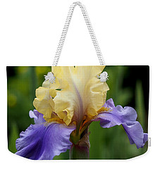 Blue Yellow Iris Germanica Weekender Tote Bag