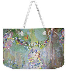 Bluebell Fairies Weekender Tote Bag by Judith Desrosiers