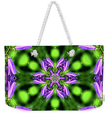 Bluebell Kaleidoscope Weekender Tote Bag
