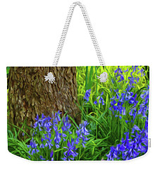 Weekender Tote Bag featuring the photograph Bluebells Of Springtime  by Connie Handscomb