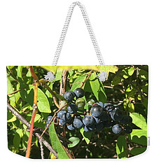 Weekender Tote Bag featuring the photograph Blueberries by Artistic Panda