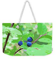 Blueberries Halftone Weekender Tote Bag