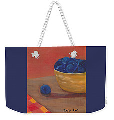 Blueberries Yellow Bowl Weekender Tote Bag