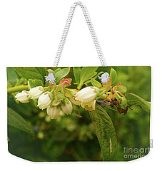 Blueberry Blossoms Weekender Tote Bag by Cassandra Buckley