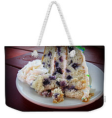 Blueberry Cake With Lemon Icing Weekender Tote Bag