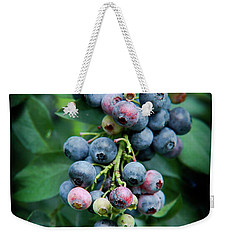 Blueberry Cluster Weekender Tote Bag by Kim Henderson