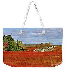 Blueberry Field Weekender Tote Bag