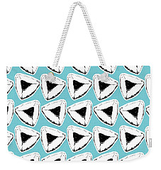 Weekender Tote Bag featuring the mixed media Blueberry Hamentashen- Art By Linda Woods by Linda Woods