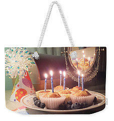 Blueberry Muffin Birthday Weekender Tote Bag