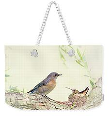 Bluebird And Baby Hummer Weekender Tote Bag