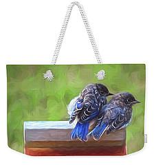Bluebird Fledglings Weekender Tote Bag