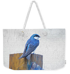 Weekender Tote Bag featuring the photograph Bluebird by James BO Insogna