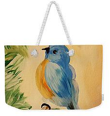 Bluebird Weekender Tote Bag by Maria Urso