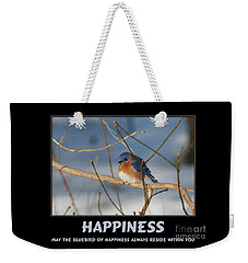 Bluebird Of Happiness Weekender Tote Bag