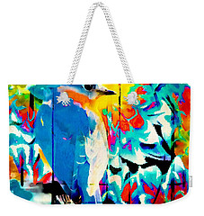 Bluebird Pop Art Weekender Tote Bag