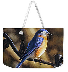 Bluebird Portrait Weekender Tote Bag by Sue Melvin