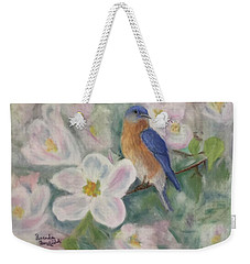 Bluebird Vignette Weekender Tote Bag by Brenda Bonfield