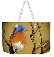 Bluebird Waiting For Spring Weekender Tote Bag