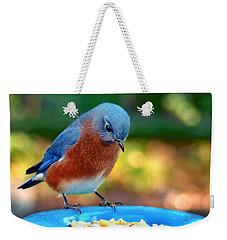 Bluebird's Dinner Weekender Tote Bag