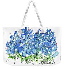Bluebonnet Dance Watercolor By Kmcelwaine Weekender Tote Bag