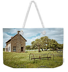 Weekender Tote Bag featuring the photograph Bluebonnet Dreams by Linda Unger