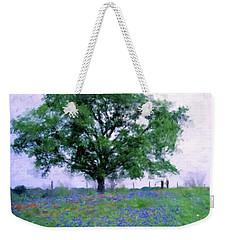 Bluebonnet Tree Weekender Tote Bag