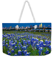 Bluebonnets In Dallas Weekender Tote Bag by Inge Johnsson