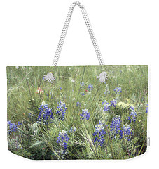 Bluebonnets On Old Paper Weekender Tote Bag by Ellen O'Reilly