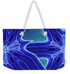 Weekender Tote Bag featuring the digital art Blued by Ron Bissett