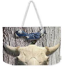 Bluejay And The Buffalo Skull Weekender Tote Bag