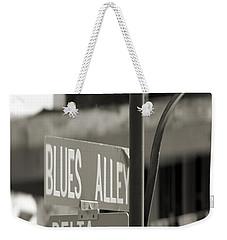 Blues Alley Street Sign Weekender Tote Bag