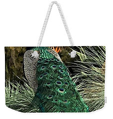 Blues And Greens Weekender Tote Bag by Kruti Shah