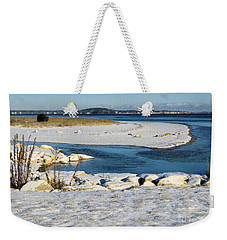 Colors Of A Winter Seascape Weekender Tote Bag