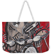 Blues Cat Drums Weekender Tote Bag
