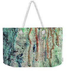 Standing In The Rain - Large Abstract Urban Style Painting Weekender Tote Bag