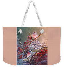 Bluethroat On The Tundra/ #3 Weekender Tote Bag
