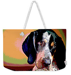 Bluetick Coonhound Weekender Tote Bag by Charles Shoup