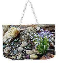 Bluets Among The River Rocks Weekender Tote Bag