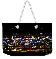 Weekender Tote Bag featuring the photograph Blurred City Lights  by Jingjits Photography