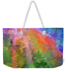 Weekender Tote Bag featuring the photograph Blurry Painting by Wendy McKennon