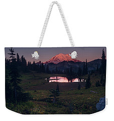 Weekender Tote Bag featuring the photograph Morning Blush by Gene Garnace