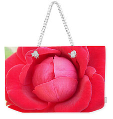 Blush Lettuce Rose Weekender Tote Bag by Samantha Thome