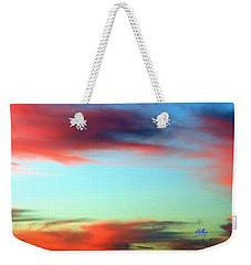 Blushed Sky Weekender Tote Bag by Linda Hollis