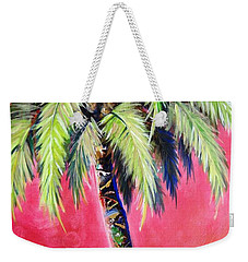 Blushing Pink Palm Weekender Tote Bag
