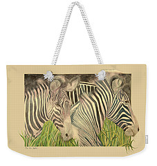 Zebra Blushing Stripes Weekender Tote Bag
