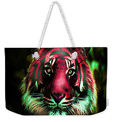 Weekender Tote Bag featuring the photograph Blushing Tiger by George Pedro