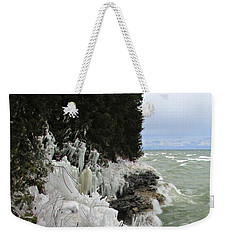 Blustery Lake Michigan Day Weekender Tote Bag