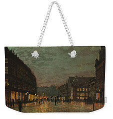 Boar Lane, Leeds, By Lamplight By John Atkinson Grimshaw. Weekender Tote Bag