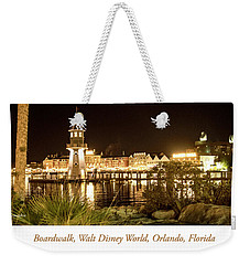 Boardwalk At Night, Walt Disney World Weekender Tote Bag by A Gurmankin