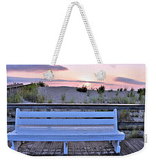 A Welcome Invitation -  The Boardwalk Bench Weekender Tote Bag